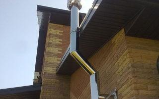 Система вентиляции из сэндвич труб снаружи дома
