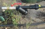 Система полива огорода из полипропиленовых труб с разбрызгивателем