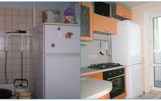 Холодильнику мешает газовая труба