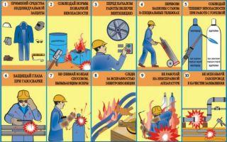 Требования охраны труда при проведении сварки
