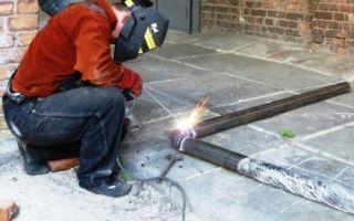 Сварка металлических труб электросваркой