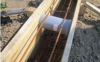 Фундаменты для воздухозаборных труб