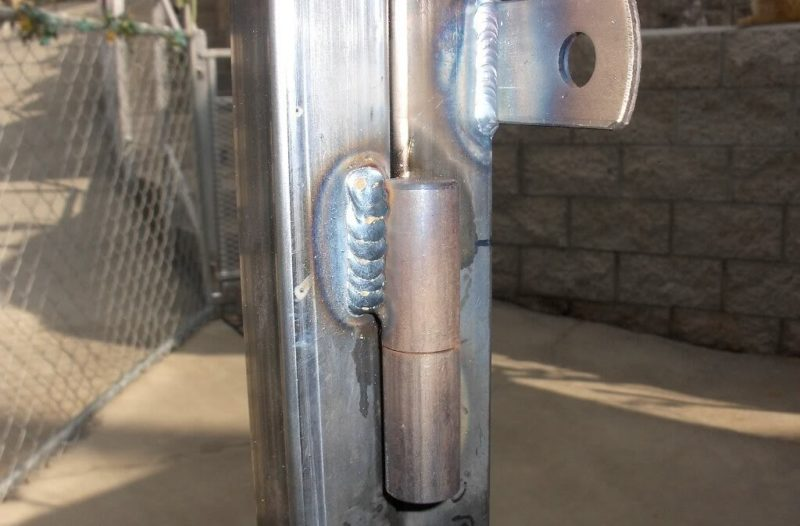 как приварить петли на ворота фото фрейзер
