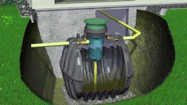 Септик глубина подводящей трубы
