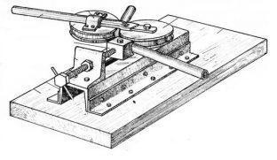 Трубогиб для круглой трубы ручной сделать сам