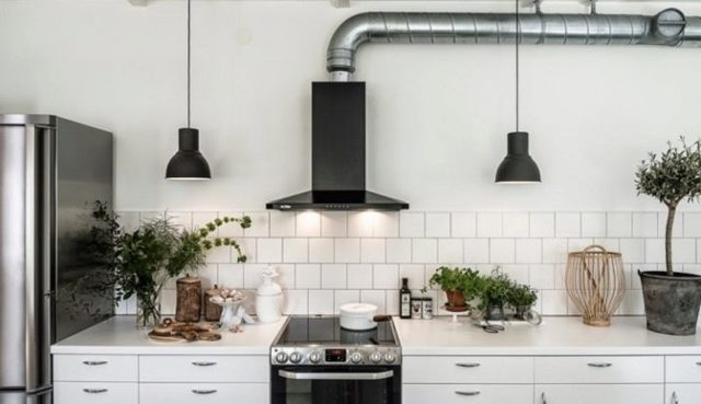 Фитинг для вытяжки в кухне