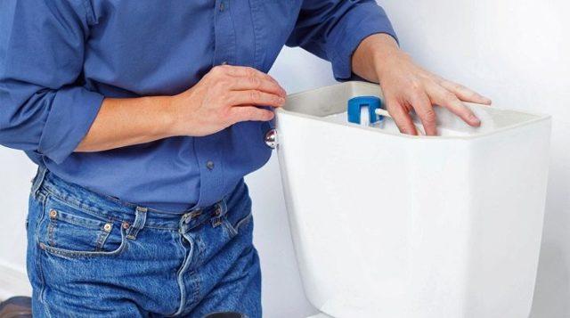 Как разобрать запорную арматуру для сливного бачка