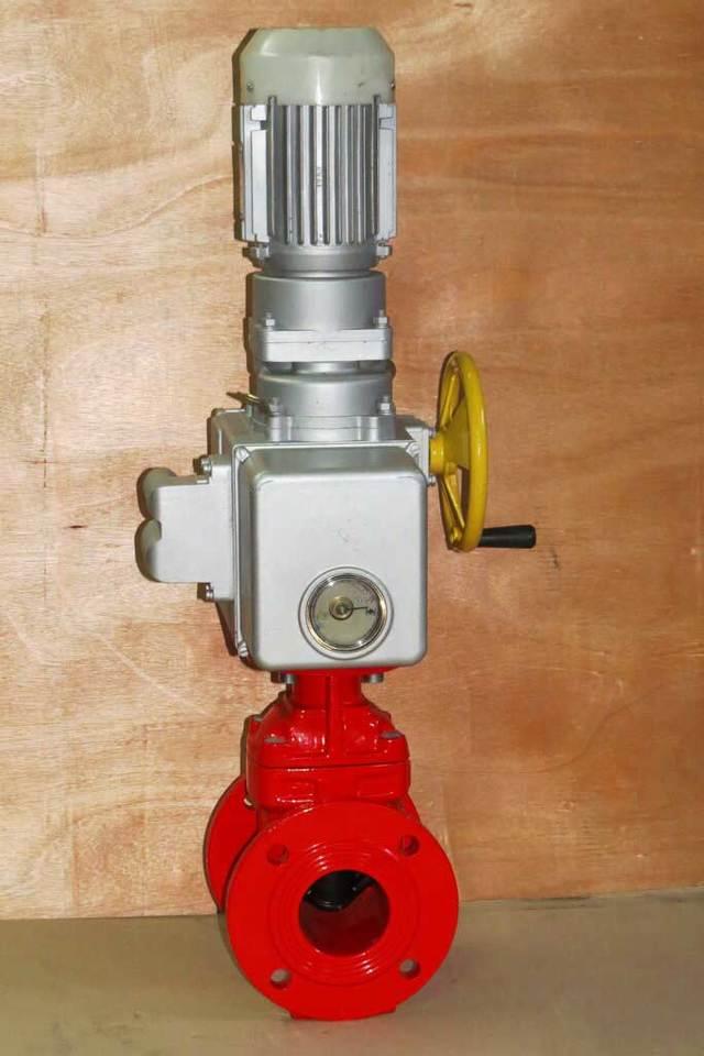 Пожарная запорная арматура с электроприводом