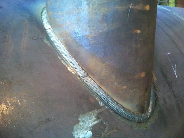 Сварка газовой трубы полуавтоматом