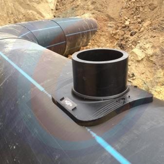 Седелки для полиэтиленовых труб для газа