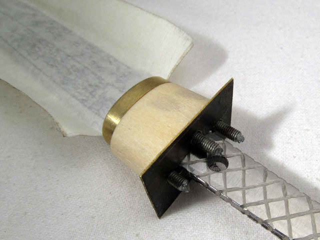 Ручка для ножа своими руками из пвх труб