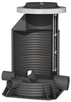 Водопроводный колодец с запорной арматурой
