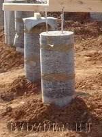 Самодельный фундамент из металлических труб