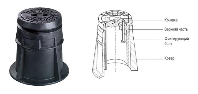 Водопроводный ковер с запорной арматурой