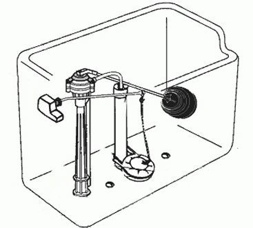 Как поменять запорную арматуру сливного бачка унитаза