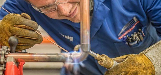 Технология пайки медных труб твердым при