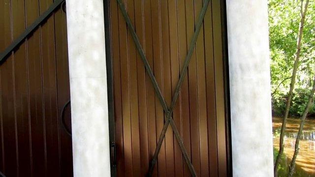 Ручка из трубы для ворот