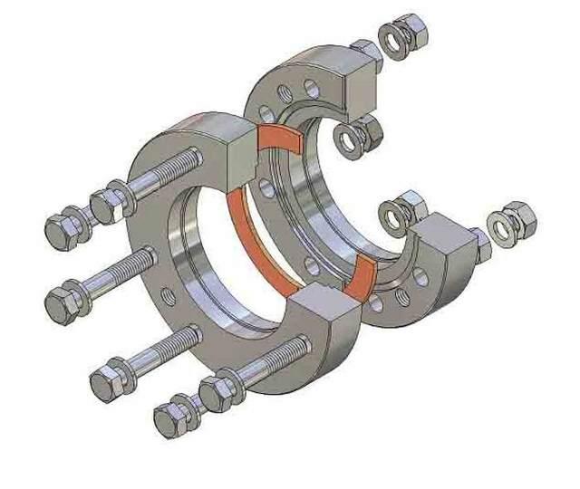 Фланцевое соединение труб схема