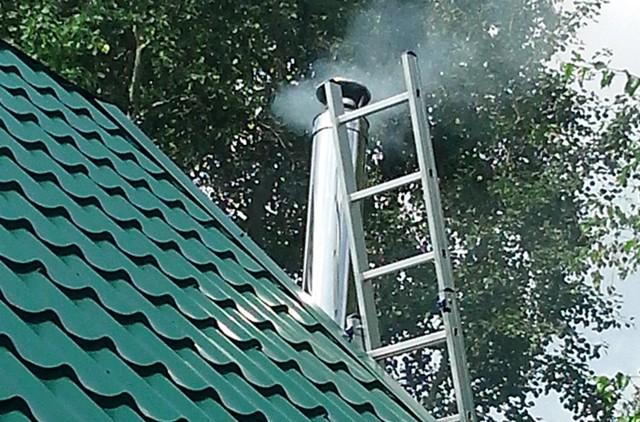 Сгорела баня из за трубы