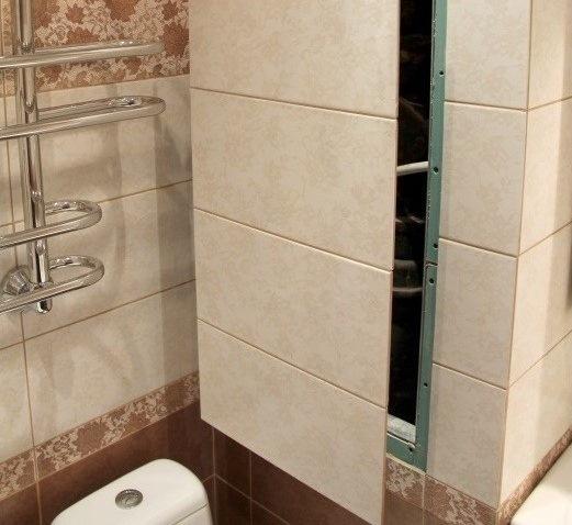 Сантехнический короб для труб в ванной