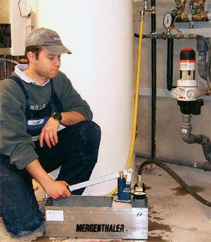Технология для опрессовки трубопровода