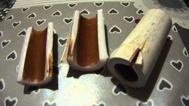 Участок трубы с дефектами