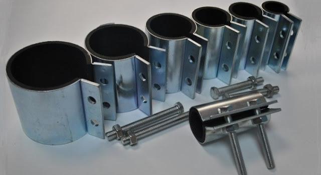 Хомуты для труб с резиновым уплотнителем для врезки