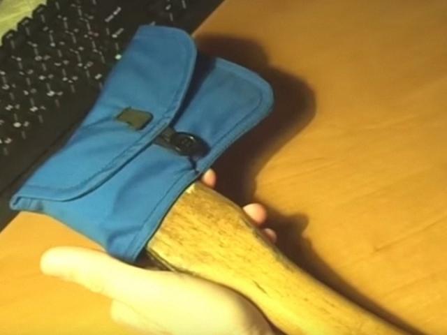 Ручка для топора из пвх трубы