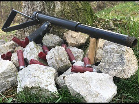 Самодельное ружье 12 калибр труба в трубе