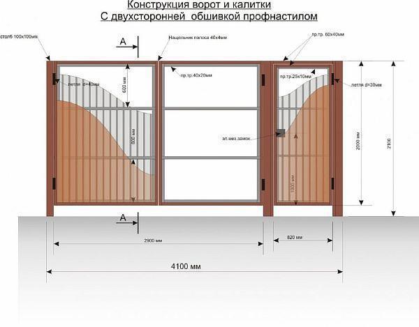 Сделать калитку из профильной трубы с аркой
