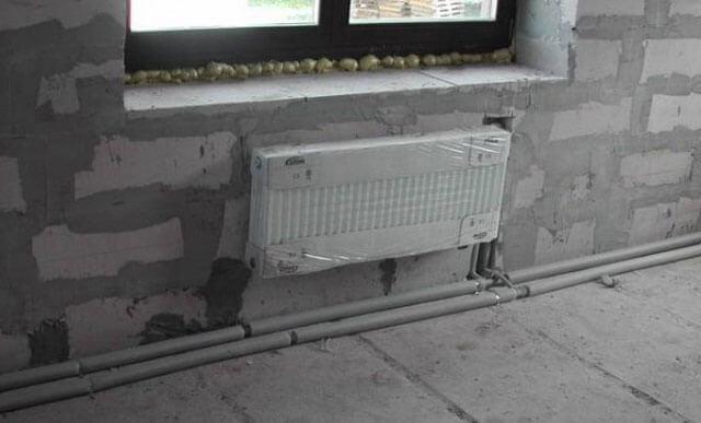 Система отопления двухэтажного дома металлическими трубами