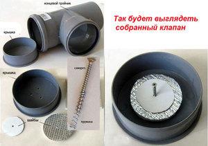 Серый обратный клапан 110 трубы