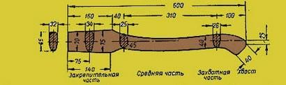 Топор с рукояткой из трубы