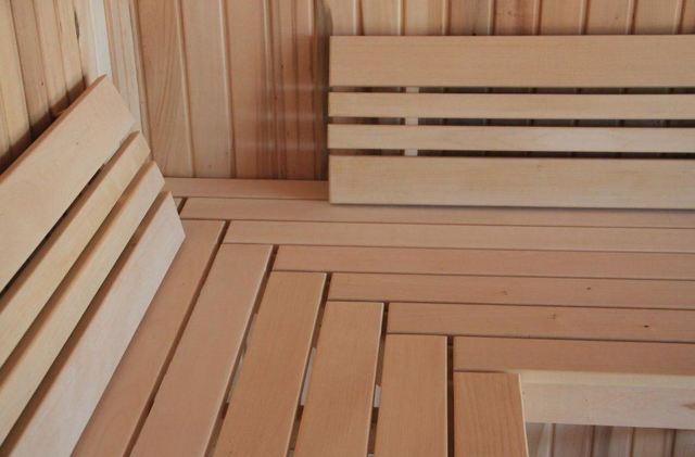 Скамейки для бани из профильной трубы