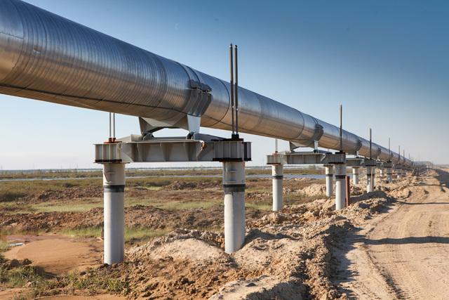Участок надземной прокладки трубопровода