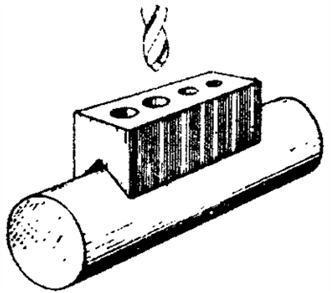 Ручная пробивка отверстий в трубе