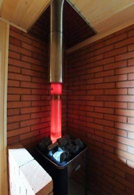 Сборка трубы в бане через потолок