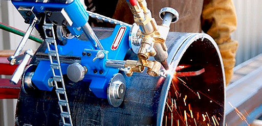 Ручная резка труб газовая