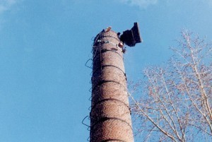 Технология демонтажа кирпичных труб