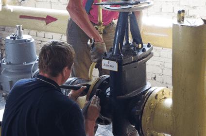 Места установки линейной запорной арматуры