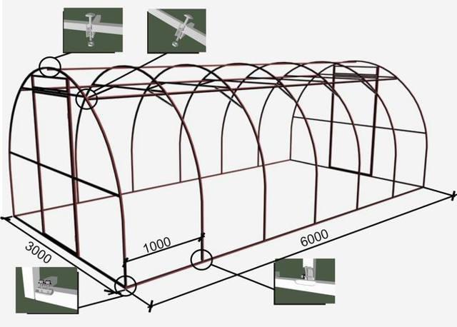 Фермы для теплиц из профильной трубы