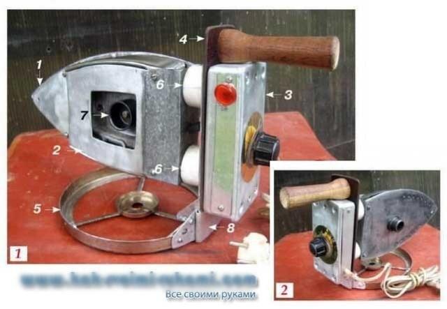 Утюг для пайки труб пвх