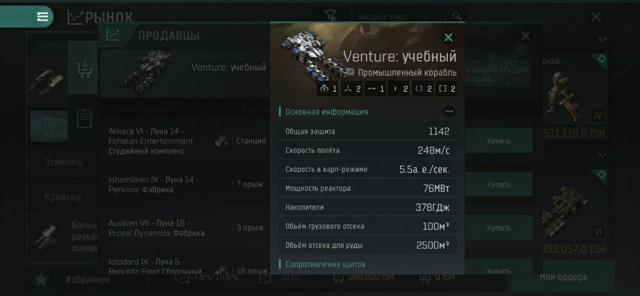 Eve online фитинг вентура