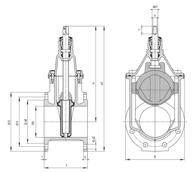 Фланец обжимной hawle спец фиксирующий для чуг труб pn 10 dn400