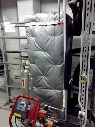Быстросъемная теплоизоляция для запорной арматуры