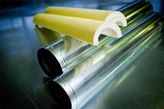 Технология покрытия изоляции труб