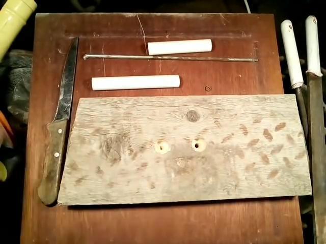 Ручка для ножа из пластиковой трубы своими руками