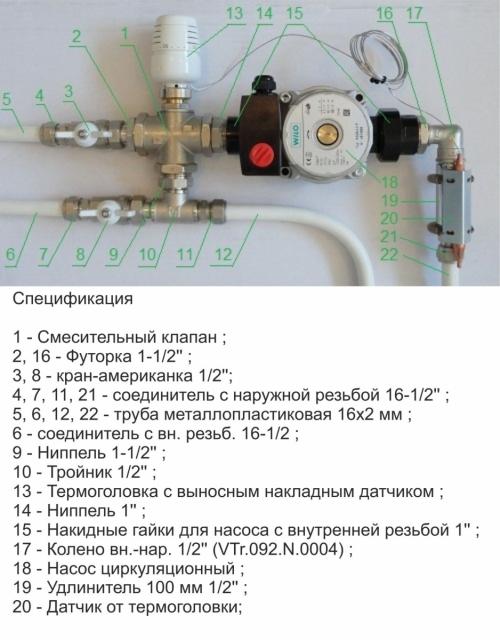 Датчик температуры с запорной арматуры