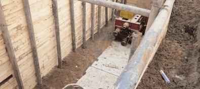 Технология продавливания труб под землей