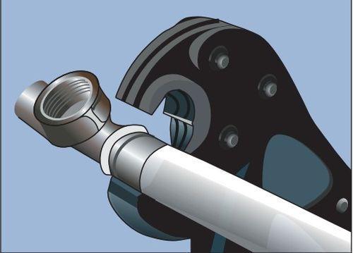Ручного пресс инструмента для металлопластиковых труб